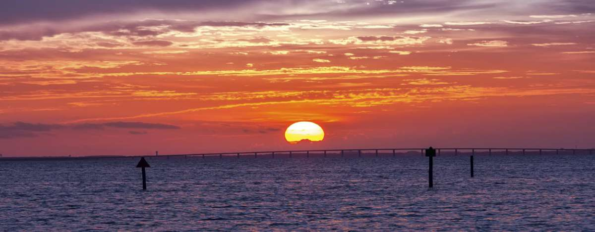 Beautiful sunsets are a nightly activity in Destin.